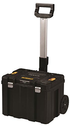 Maletín Dewalt T-Stak Trolley. Incluye asa telescópica y ruedas. Permite apilcar encima cualquier maletín del sistema T-Stak.