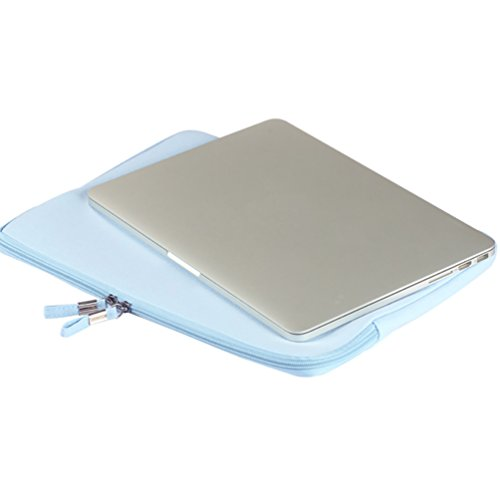 YiJee Universale Laptop Custodia Borse Handbag Accessorio Bag Per PC Portatili 13.3 Pollice Blu Chiaro