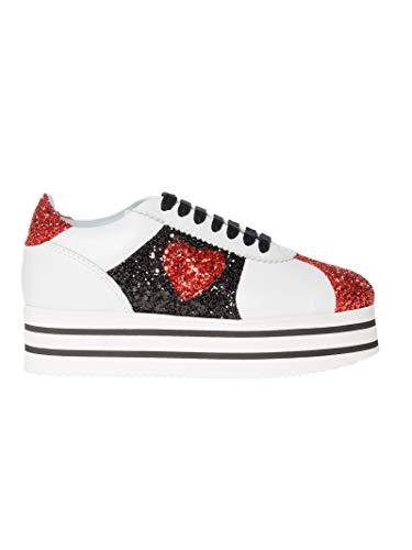 Chiara Ferragni Femme CF1932WHITE Blanc Cuir Chaussures De Skate