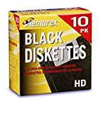 Memorex MF2HD 3.5 PC-Formatted High-Density Floppy Disks Black 10-Pack Discontinued by Manufacturer