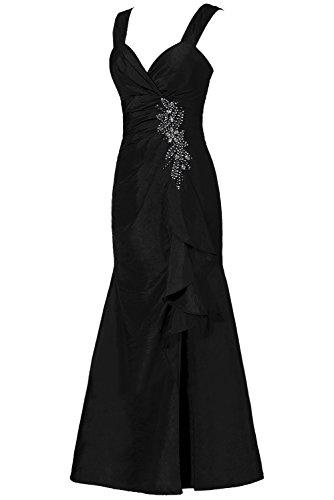 Promgirl House Damen Elegant Bolero A-Linie Taft Lang Abendkleider Cocktailkleider Brautmutterkleider Schokolade