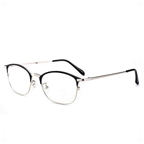 WULE-RYP Polarisierte Sonnenbrille mit UV-Schutz Männer Retro Anti-Blau Brille Half Frame Brillengestell. Superleichtes Rahmen-Fischen, das Golf fährt (Farbe : Silver)