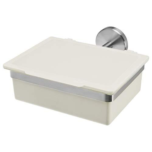 bremermann Bad-Serie Piazza - Feuchttücherbox mit Edelstahlhalterung (Weiß) -