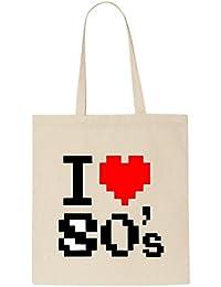 I Love 80's T-Shirt Tote Bag