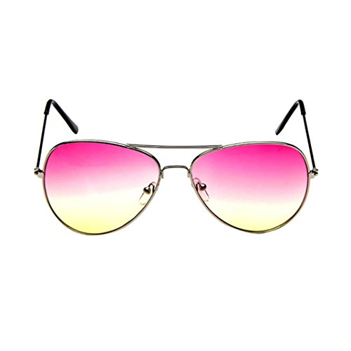 SANFASHION Mens Womens Unisex Retro Mode Aviator gespiegelte Linse polarisierte Sonnenbrille Brillen (A)