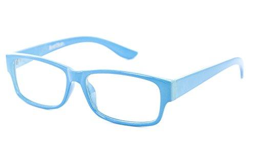 Nerd-Brille schmal blau ohneSehstärkeca. 13,5 x 3,5 cm Herren Damen Panto-Brille Lese-Brille Nerd-Brille Geek-Brille