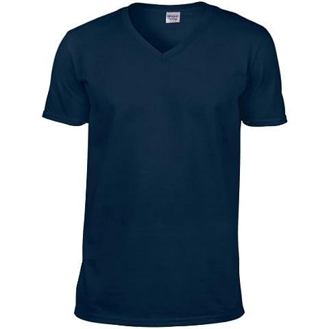 Gildan - Maglietta 100% Cotone - Uomo (L) (Blu (Navy Ago)