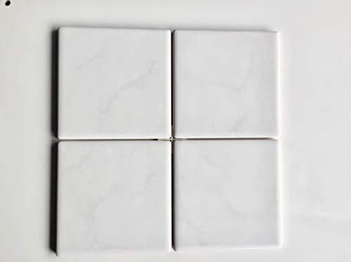 Piastrelle 15 x 15 bitech ceramica porcellanata in pasta bianca in 1° scelta serie luxor versace ceramic design colore bianco lucido confezione in scatola da 44 pezzi per mq 1,00