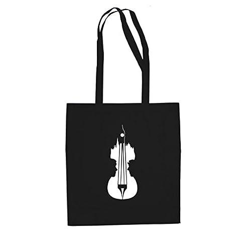 Sherlock Violin - Stofftasche / Beutel, Farbe: schwarz (Watson Sherlock Holmes Kostüm)