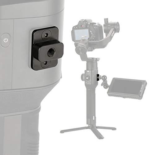 AgimbalGear Verlängerungs-Montageplatte für DJI Ronin S, 1/4 Zoll Konverter Schraube Adapter für Magic Arm Monitor Video Mikrofon LED Licht Gimbal Zubehör