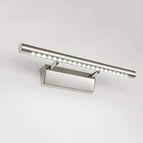 Badezimmer Lichter LED-Spiegel-Scheinwerfer, Badezimmer-Schlafzimmer-Badezimmer-Spiegel-vorderes helles Edelstahl-Glühlampe-Wand-Lampe Deckenleuchte (Farbe : Weiß-5w/40cm)