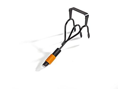 Fiskars Krümmerjäter, Zwei Geräte in einem: Krümmer & Jäter, Gerätekopf, Schwarz/Orange, QuikFit, 1000681