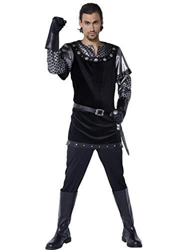 Halloweenia - Herren Männer Tales of Old England Sheriff von Nottingham Kostüm mit Tunika, Hose, Handschuhe und Gürtel, perfekt für Karneval, Fasching und Fastnacht, M, (Prinz Von England Kostüm)