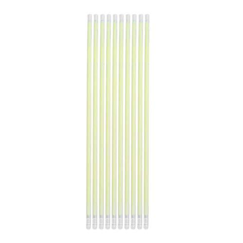 Bureze 100 Stück Fluoreszierende Lichter Leuchtstäbe Armbänder Halsketten für Hochzeit Party Festival Bühne Kostüm Leuchtstab Neon Light Stick weiß (Neon Knicklicht Kostüm)