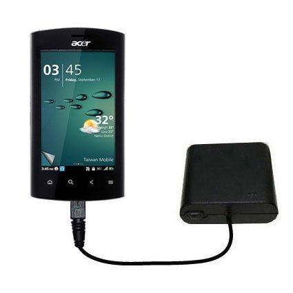 Tragbares Notfall-Batterieladegerät AA für Acer Liquid Metal Mit TipExchange Technologie