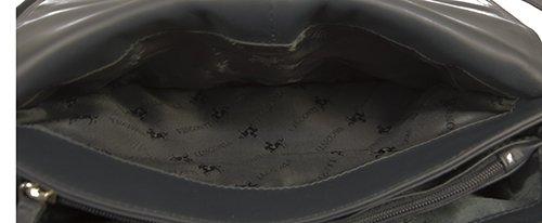 Visconti Atlantic - Umhängetasche / Organizer-Tasche für Damen - Echtleder - CLAUDIA # 03190 Schwarz