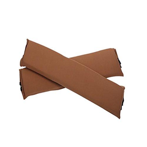 Sharplace 2 Stk. Elastische Armauflage, Armlehnen Polster, Ellenbogen Kissen für Drehstuhl Bürostuhl - Braun (Öffnung Ellenbogen)