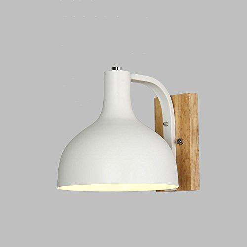 Kreative einfache Design Farbe lackiert Eisen Wandleuchte Retro skandinavischen industriellen Stil Schlafzimmer Studie Parlor Balkon Log Wall Light ( Farbe : Weiß ) (Smashing Design)