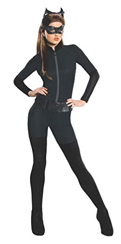 Rubie's Offizielles Catwoman-Kostüm für Damen, Dark Knight Rises, Größe: 44-46, Brustumfang 101,6 cm - 106,7cm, Taille 88,9 cm - 96,5cm (Offizielle Catwoman Kostüm)