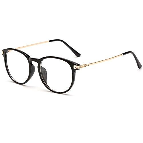 VEVESMUNDO Brille Pantobrille Hornbrille Ohne Sehstärke Damen Herren Metall Retro Vintage Rund...