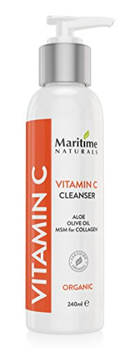 Vitamin C Facial Cleanser - Anti Aging, Breakout and Wrinkle Reducing Face Wash for Clear and Reduced Pores - With Organic and Natural Ingredients - Suitable for Oily, Dry and Sensitive Skin