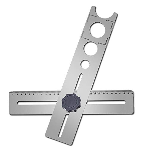 Baugger Messwerkzeug für Fliesenzubehör - Multifunctional Tile Hole Locator - Multifunctional Tile Hole Locator Puncher Adjustable Tile Fixing Decoration Accessory Measurement Tool