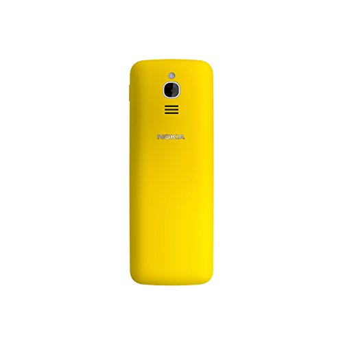 Nokia 8110 (2,45 Zoll QVGA Display, 4G, 2MP Kamera mit LED Blitz, MP3 Player, FM Radio, Weckfunktion, spritzwassergeschützt (IP52), Bluetooth 4.1) gelb