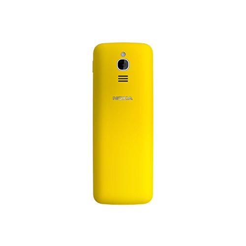 Nokia 8110 (2,45 Zoll QVGA Display, 4G, 2MP Kamera mit LED Blitz, MP3 Player, FM Radio, Weckfunktion, spritzwassergeschützt (IP52), Bluetooth 4.1) gelb