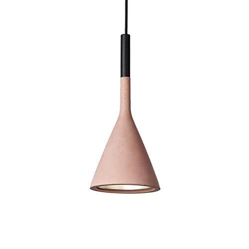 Creative Cement Kronleuchter, Nordic LED Blau/Grau/Grün/Rosa/Rot Eisen Beleuchtung Leuchter Deckenleuchten American Bar Cafe Esstisch Pendelleuchte (Color : Pink)