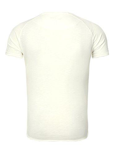 Key Largo Herren T-Shirt PRIME Totenkopf Rosen Vintage Look Sommershirt Weiß