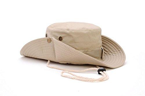 Klassische US Stil Jungle Hut Baumwolle gegen Bush Sun Cap, Beige