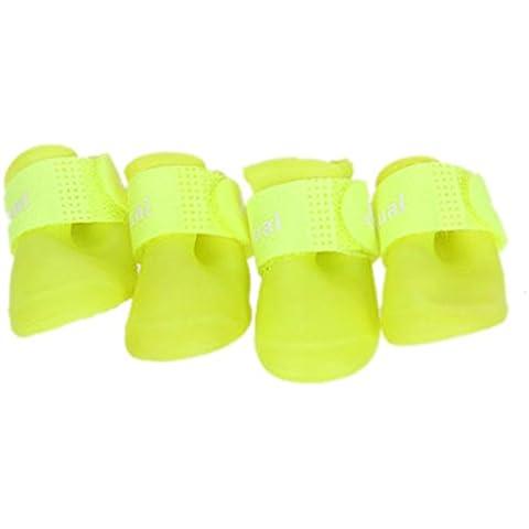 EOZY Zapatos Para Perros Verano Impermeables Animal Doméstico Un Conjunto De 4 PC (Talla S, Verde)