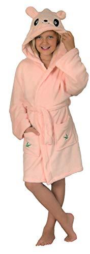 Preisvergleich Produktbild Brandsseller Kinder Bademantel Morgenmantel - für Jungen und Mädchen (134 / 140,  Panda-Rosa)