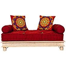 Sofá oriental Fadilla de 120 cm, 2 plazas, juego de sofá marroquí para salón