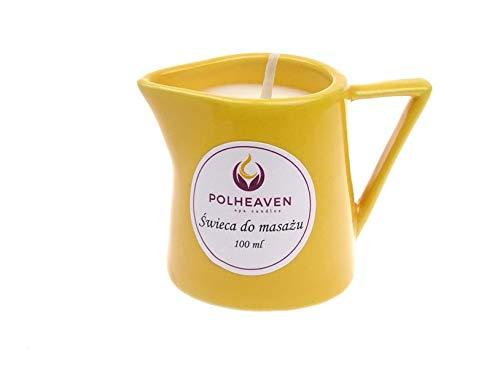Massagekerze Massagelotion Öl Creme Massage Kerze Spa Candle Wellness Weiß 100 (Milch und Honig) -