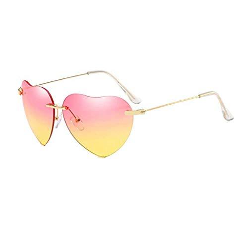 Vovotrade New Retro Love Ocean Piece Sonnenbrille Street Beat Pfirsich herzförmige Sonnenbrille Mode cool, Urlaub unerlässlich (C)