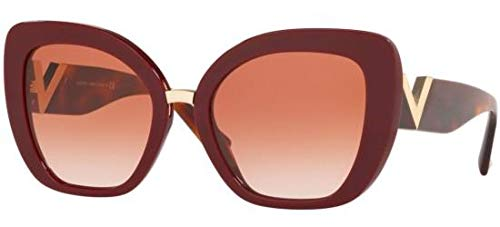 Valentino Sonnenbrillen V Logo VA 4057 Burgundy/Brown PINK Shaded Damenbrillen