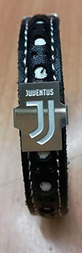 Bracciale bigiotteria juventus calcio modello deluxe bianco nero con nuovo logo metallo official product con scatola