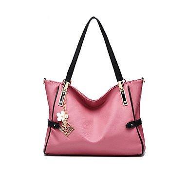 Frauen PU/Pigskin Casual/Outdoor Umhängetasche Dark Pink