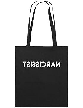 Comedy Bags - NARCISSIST - GESPIEGELT - Jutebeutel bedruckt, Baumwolltasche zwei lange Henkel aus 100 % Baumwolle...