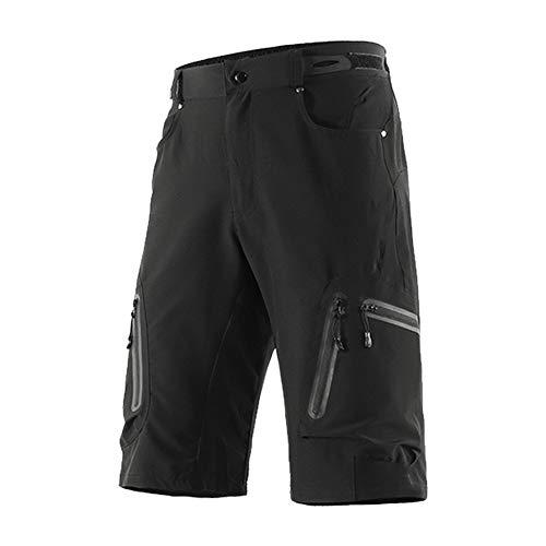 Fitsund Herren MTB Shorts Schnell Trocknend Kurze Fahrrad Sport Hose Radhose Ohne Sitzpolster