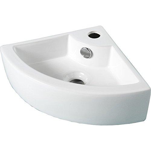 Lave mains d 'angle à suspendre petite dimension