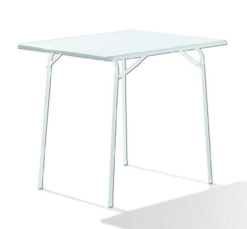 Sieger 110/W Table de Pliante Blanc 110 x 60 x 80 cm
