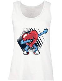 lepni.me Camisetas sin Mangas para Mujer Dabbing Corazón Divertido, Regalo del