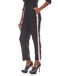 Damen-Boyfriendhose Kurzgröße Große Größe Trendhose Weinrot B.C Best Connections