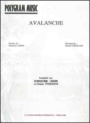 AVALANCHE par LIDON Christine