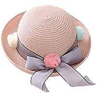 Young shinee Cappello per Bambini Bambini Bowknot Filati Palla Cappello di  Paglia per Bambini Protezione Solare 2f9490f803ae