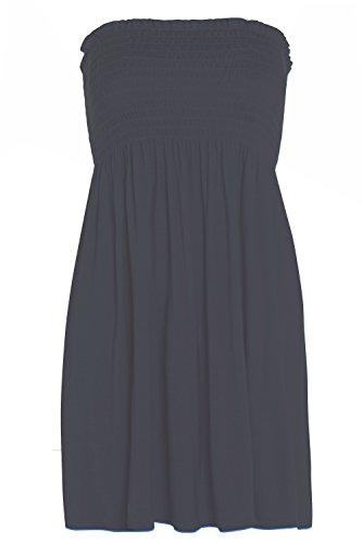 Da donna Le misure Plus Sheering Boobtube Boho triangolare da donna e spalline Top gilet 16-26 blu navy