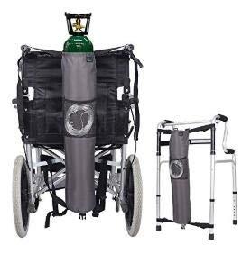 Sauerstoff Rucksack Rollstuhltasche Halterung Carrier Portable Oxygen Tank Tragetasche für Walker, Rollator, passt