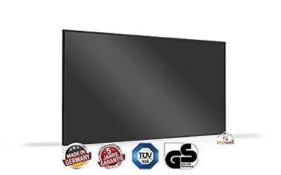Glasheizung Nomic Standard 320 Watt schwarz Alurahmen schwarz, halbrund, 10 mm hochglänzend von infranomic auf Heizstrahler Onlineshop